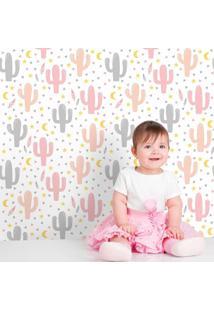 Papel De Parede Cactos Baby Girl