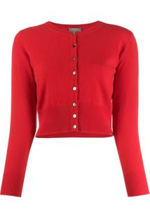 N.Peal Cashmere Cropped Cardigan - Vermelho