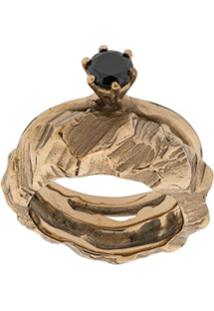 Voodoo Jewels Crystal-Embellished Ring - Dourado