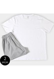 Conjunto De Pijama Duomo 2 Peças Liso Masculino - Masculino