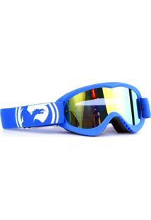 Óculos Tear Off Road Dragon Mdx Azul Lente Dourado