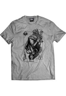 Camiseta Skull Clothing King And Queen Masculina - Masculino-Cinza