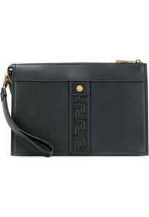 Versace Greca Pouch Bag - Preto