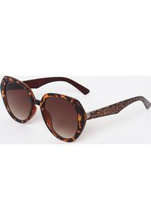 Óculos De Sol Marrom Sao Paulo feminino   Gostei e agora  6b7661deaa