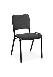 Cadeira Fixa Estofada Atena S/ Braços Ci Cinza