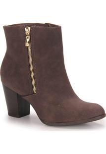 Ankle Boots Feminina Via Marte - Cafe