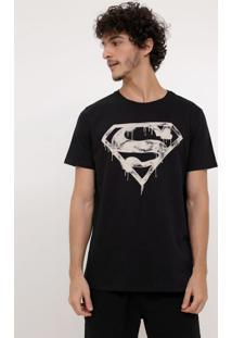 Camiseta Com Estampa Super Homem - Brilha No Escuro