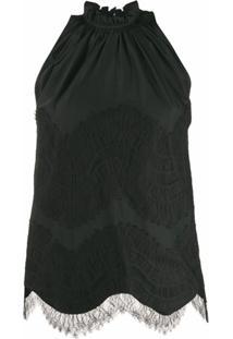 Givenchy Regata Com Sobreposição De Renda - Preto