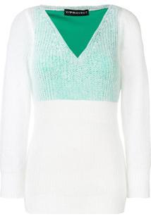 Y/Project Suéter Com Sobreposição - Branco