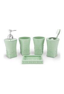 (Lifestyle) Kit Banheiro C/ 5 Pçs Verde
