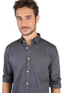 Camisa Lisa Taco Masculina - Masculino-Chumbo