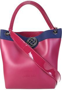 Bolsa Petite Jolie Shopper City Bag J.Lastic Ruber Feminina - Feminino-Vinho