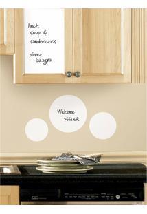 Adesivos De Parede Roommates Branco Dry Erase Sheet Peel & Stick Wall Decal (17.5 X 24 )