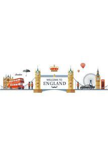 Adesivo De Parede England- Marrom Claro & Vermelho- Evolux