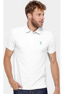 Camisa Polo Aleatory Piquet Lisa Masculina - Masculino-Branco