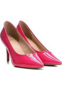 Scarpin Ala Salto Alto Verniz - Feminino-Pink