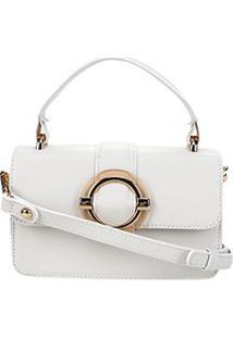 Bolsa Couro Jorge Bischoff Mini Bag Floter Feminina - Feminino-Branco