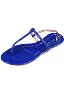 Sandália Teodora'S Verniz Azul Royal