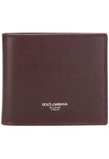 Dolce & Gabbana Carteira Com Logo Em Relevo - Vermelho