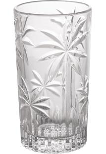 Conjunto 6 Copos Altos Cristal Palm Tree 330Ml