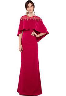 4e1b6ab255 Vestido Chatons Crepe feminino