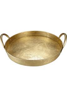 Bandeja Mart Em Metal Dourada