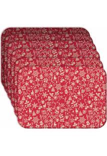 Jogo Americano Love Decor Wevans Minimalista Natal Kit Com 6 Pçs