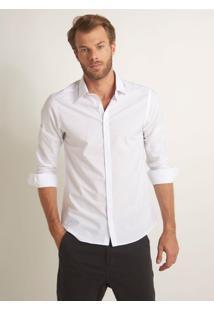 Camisa Rosa Chá Marcos Branco Masculina (Branco, M)