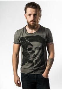 Camiseta Estonada Skull Lab Skull Face - Masculino