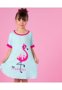 Camisola Flamingo- Verde ÁGua & Rosapuket