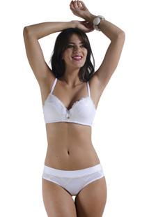 Lingerie Sexy Frelith Conjunto Renda Branco