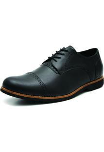 Sapato Social Oxford 3Ls3 Preto Tamanhos Especiais