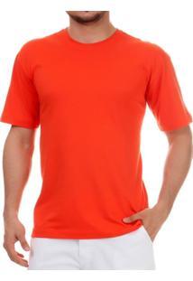 Camiseta Pau A Pique Básica Laranja
