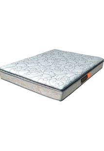 Colchão Casal Pillow Top Active Premium Extra Firme - Pelmex - Branco / Silver