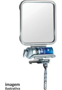 Espelho Emoldurado Com Porta Barbeador - Interdesign