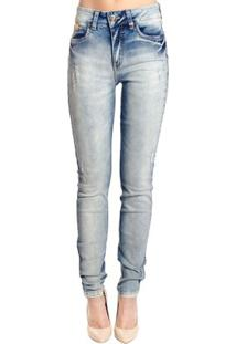 Calça Super Skinny Destonada Colcci - Feminino-Azul