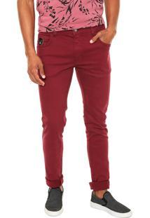 Calça Sarja Coca-Cola Jeans Super Skinny Vinho