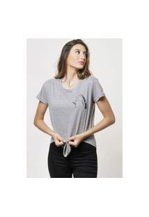 Camiseta Jay Jay Basica Fisher Cinza Mescla Dtg