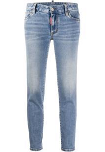Dsquared2 Calça Jeans Slim Cintura Baixa - Azul