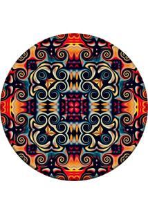 Tapete Love Decor Redondo Wevans Geometric Oriental Multicolorido 94Cm