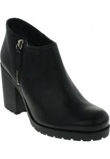 Bota Ankle Boots Schutz Couro Feminino - Feminino
