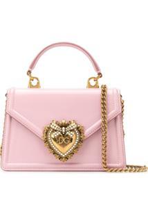 Dolce & Gabbana Devotion Crossbody Bag - Rosa