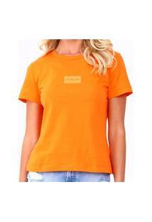 Camiseta Forum Fran Laranja Feminina