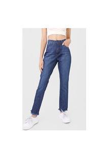 Calça Jeans Roxy Reta Cozy Wildness Azul