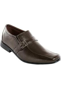 Sapato Marrom Com Fivela Lateral