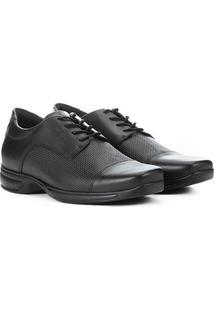 Sapato Social Couro West Coast Air Control Masculino - Masculino-Preto