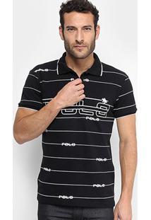 Camisa Polo Em Piquet Estampada Polo Rg 518 Manga Curta Masculina - Masculino