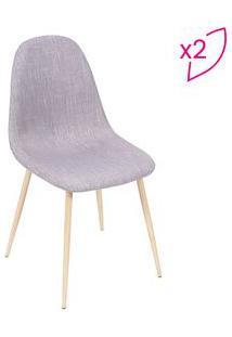 Or Design Jogo De Cadeiras Charla Cinza & Madeira 2Pã§S