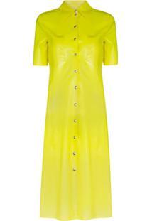 Kwaidan Editions Chemise De Latex Com Botões - Amarelo