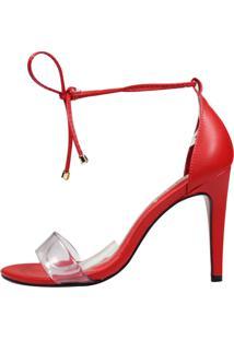 Sandália Minimalista Week Shoes Vinil 3 Tiras Vermelha